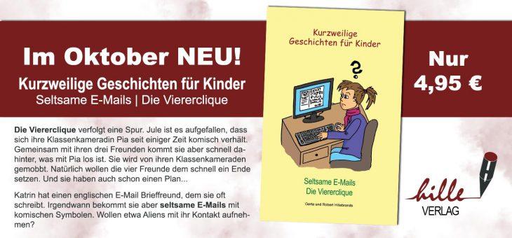 """Vorankündigung! Neuer Teil der """"Kurzweiligen Geschichten für Kinder"""" erscheint im Oktober!"""