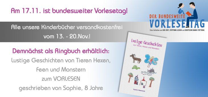 Kostenfreier Versand zum bundesweiten Vorlesetag am 17.11.