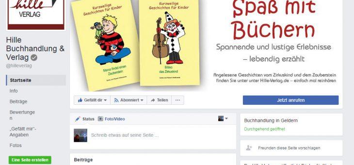 Hille Verlag auch bei Facebook!