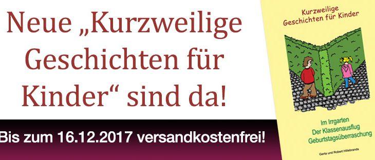 """Neue """"Kurzweilige Geschichten für Kinder"""" im Shop erhältlich!"""